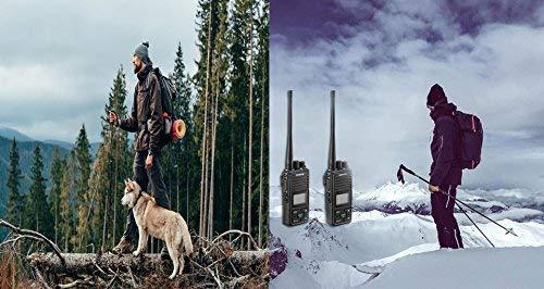 2 Ways Radio Long Range Samcom FPCN10A GMRS Walkie Talkie 20 Channels  Wireless Intercom with Group Button, UHF 400-470MHz,2 Watt, Earpiece, Belt